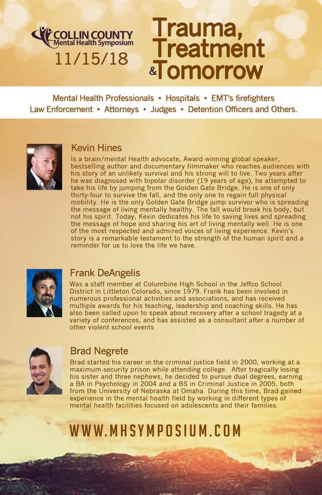Symposium Speakers Collin County Mental Health Symposium